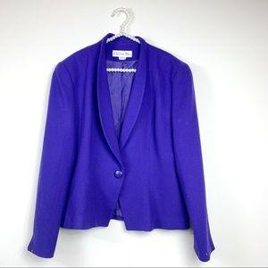 Christian Dior womens indigo blazer 12 100% wool